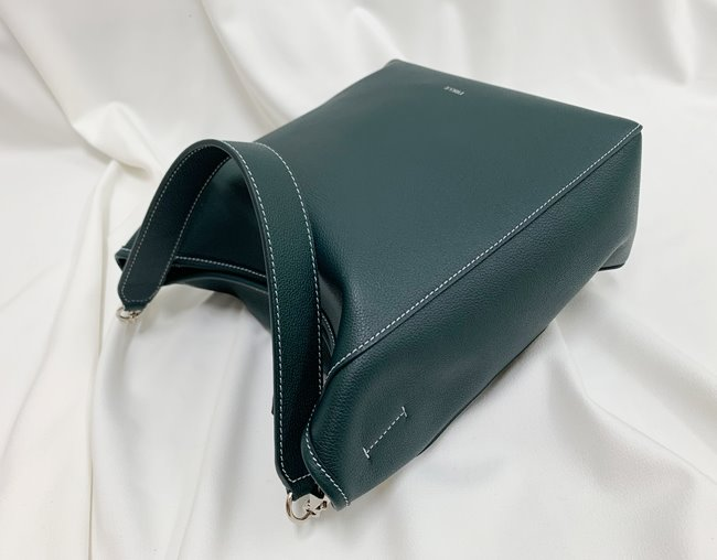 BASKET BAG M_ dark green