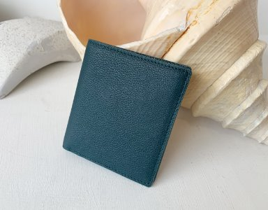 HALF WALLET_ dark green