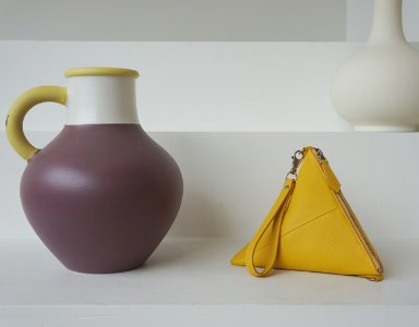 TRIANGLE BAG_ yellow