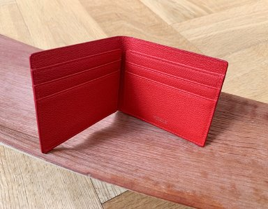 CARD WALLET_ cherry red