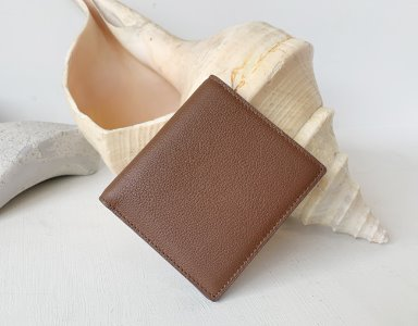 HALF WALLET_ brown