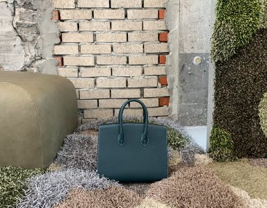 CURVE BAG M_ dark green