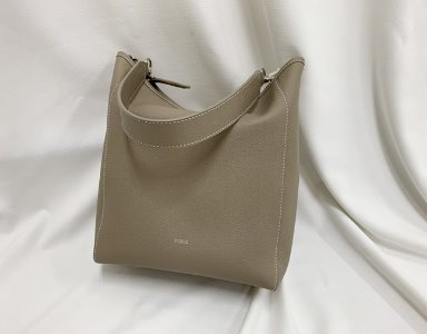 BASKET BAG M_ beige gray